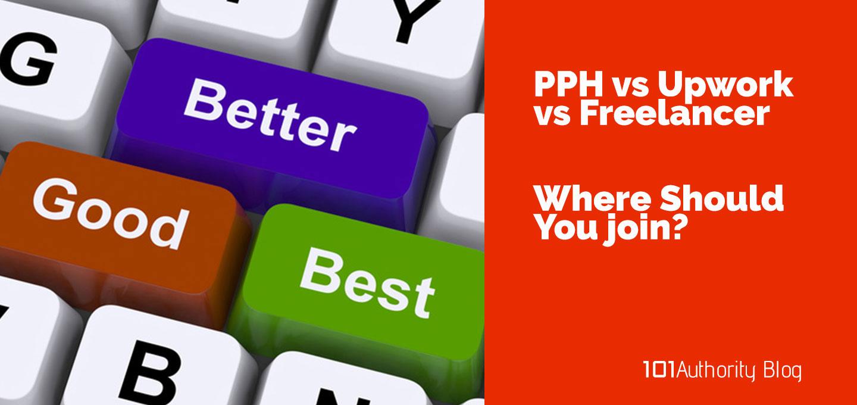 Feature image - PPH vs Upwork vs Freelancer